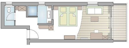 Double room Landhaus Layout
