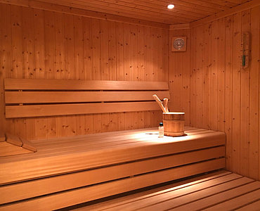 Sauna der Wellness Suite