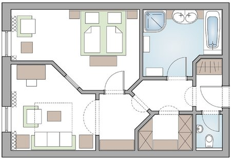 Suite Landhaus layout